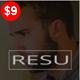 Resu - Personal Portfolio Template - ThemeForest Item for Sale