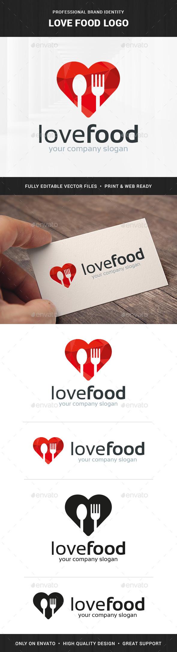 Love Food Logo Template v2