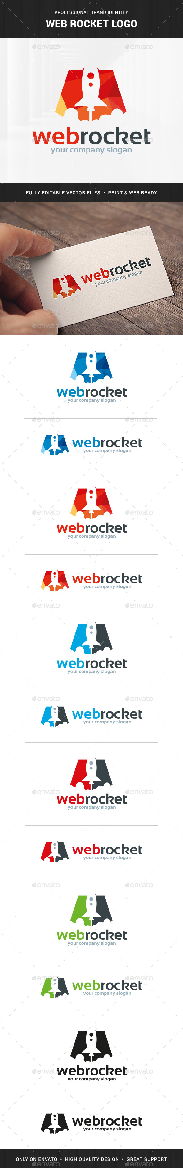 Web Rocket Logo Template