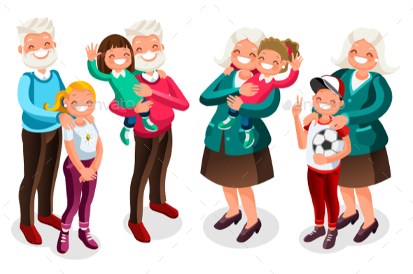 Grandpa and Grandma with Children