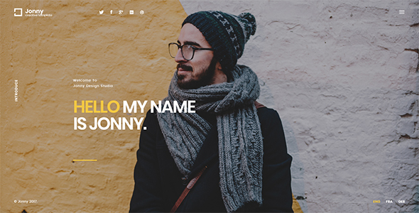 Jonny - Personal  WordPress Theme