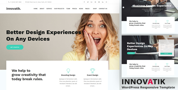 Innovatik - Business Consulting and Professional Services WordPress Theme