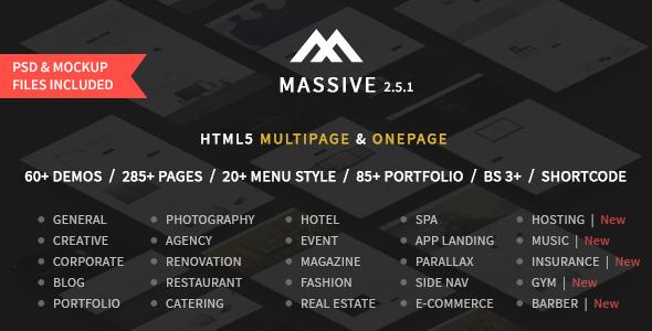 Themeforest | Massive - Responsive Multi-Purpose HTML5 Template Free Download free download Themeforest | Massive - Responsive Multi-Purpose HTML5 Template Free Download nulled Themeforest | Massive - Responsive Multi-Purpose HTML5 Template Free Download