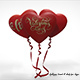 """Heart balloons """"valentines day"""" - 3DOcean Item for Sale"""