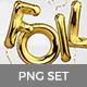 Foil Balloon Letters Set - GraphicRiver Item for Sale