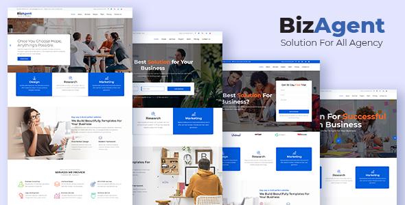 Creative Digital Agency Website Templates from ThemeForest
