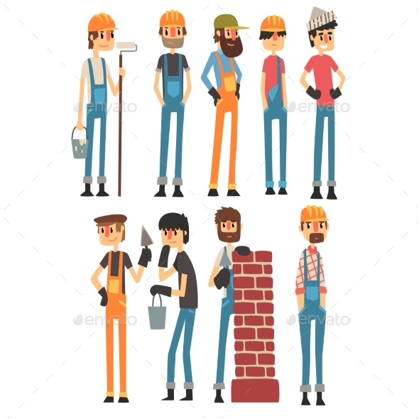 People of Different Professions. Labor Day. Vector