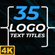 Logo Text Titles 4K - VideoHive Item for Sale