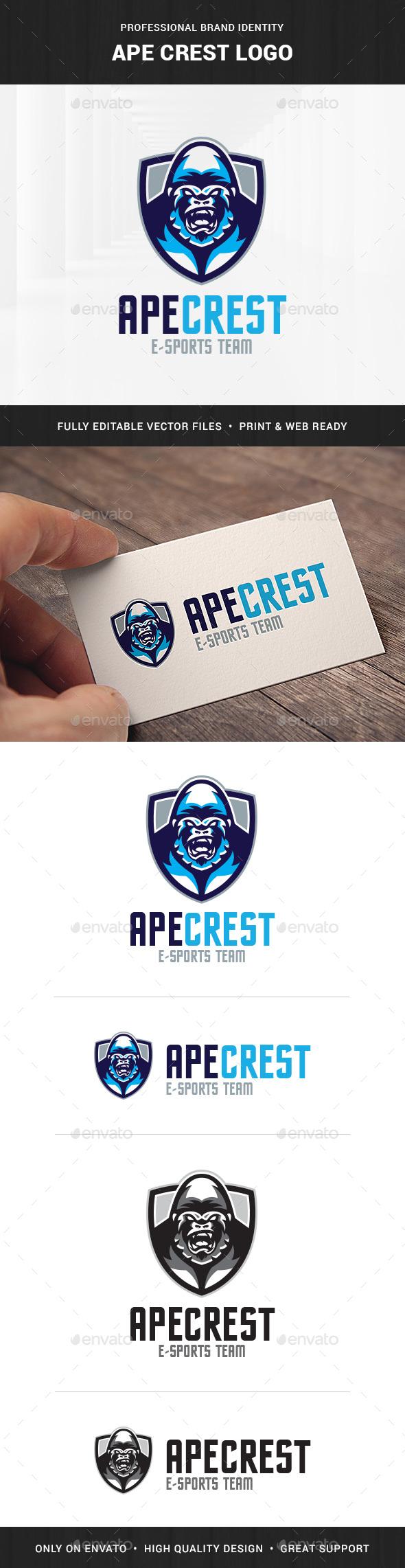 Ape Crest Logo Template