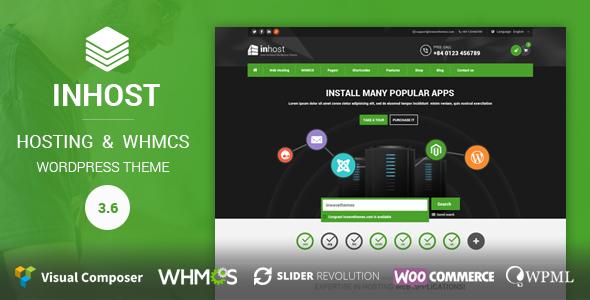 InHost | WHMCS Integration WordPress Theme