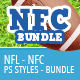 NFL Styles - NFC Bundle - GraphicRiver Item for Sale