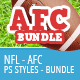 NFL Styles - AFC Bundle - GraphicRiver Item for Sale