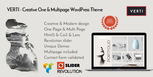 Verti - Creative OnePage & MultiPage WordPress Theme