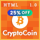 CryptoCoin - Bitcoin Crypto Currency Wallet and Mining Template - ThemeForest Item for Sale