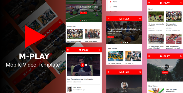 M-PLAY - Mobile Video Template