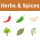 Herbs & Spices Color Vector Icons - GraphicRiver Item for Sale