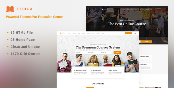 EDUCA | Multiconcept Education & Courses HTML Template