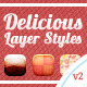 Delicious Sweet Layer Styles v2 - GraphicRiver Item for Sale