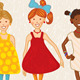 Seven Girls Illustration - GraphicRiver Item for Sale