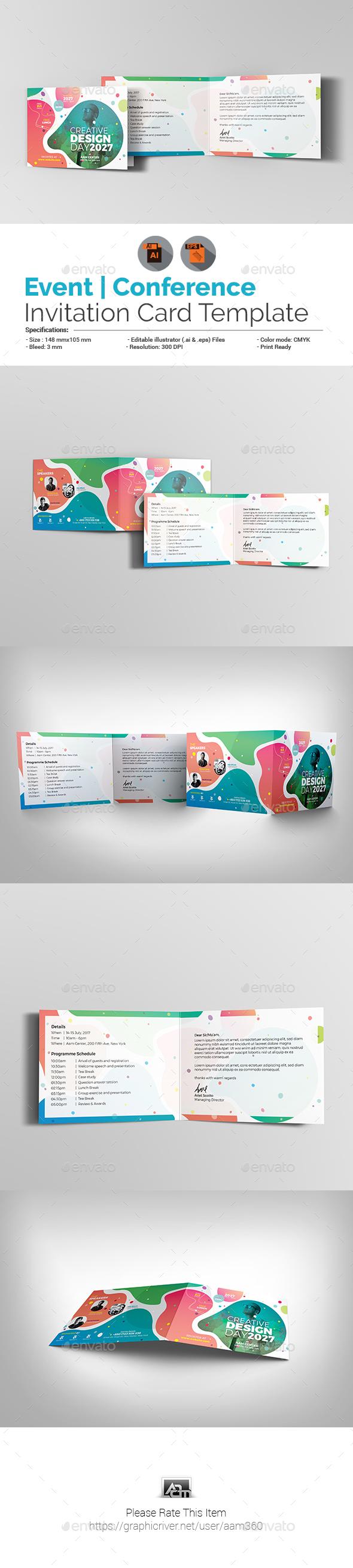Seminar Card Designs & Invite Templates from GraphicRiver