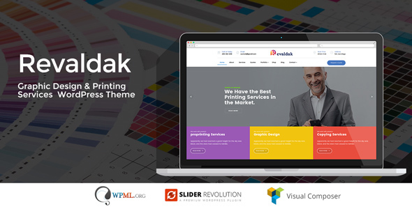 Revaldak - Printing Services WordPress Theme