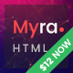 Myra - Multipurpose Minimal Landing Page Template - ThemeForest Item for Sale
