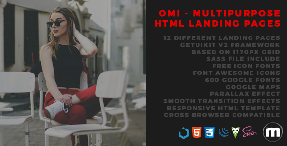 Omi - Multipurpose HTML Landing Pages