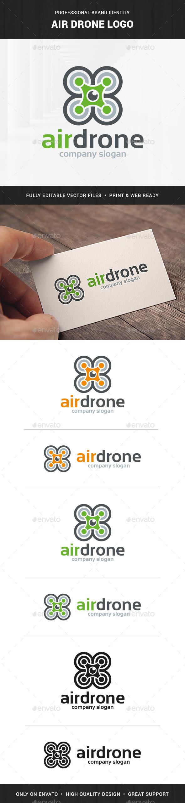 Air Drone Logo Template