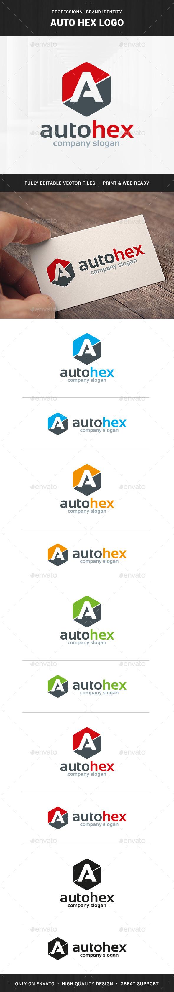 Auto Hex - Letter A Logo