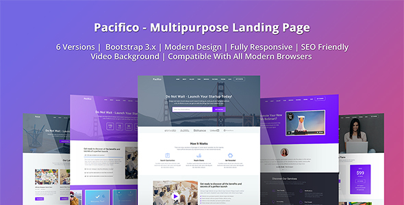 Pacifico - Multipurpose HTML Landing Page Template