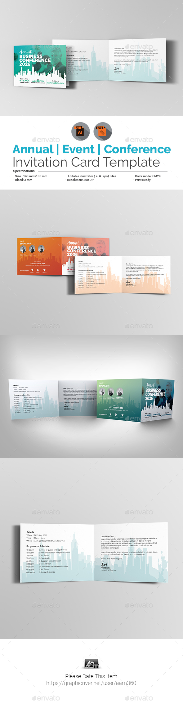 Conference Mockup Meeting Graphics Designs Templates