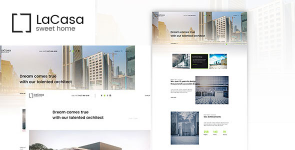 Lacasa – Interior & Exterior Decoration WordPress Theme