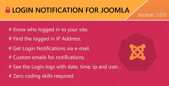 Login Notification for Joomla