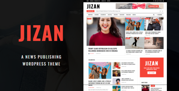 Jizan | A Newspaper and Magazine WordPress Theme