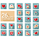 Valentine day and wedding set icons - GraphicRiver Item for Sale