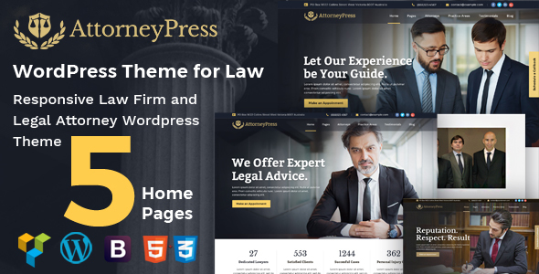 Attorney Press - Lawyer WordPress Theme