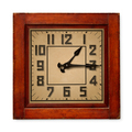 Square wooden wall clock - PhotoDune Item for Sale