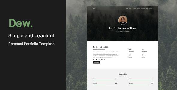 Dew - Personal Portfolio Template