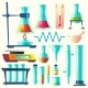 Vector Cartoon Laboratory Equipment - GraphicRiver Item for Sale