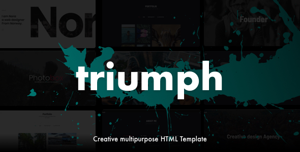 Triumph - Creative Multipurpose One Page HTML Template