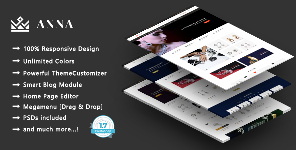 Anna - Handcrafted Jewelry Responsive PrestaShop 1.7 Theme
