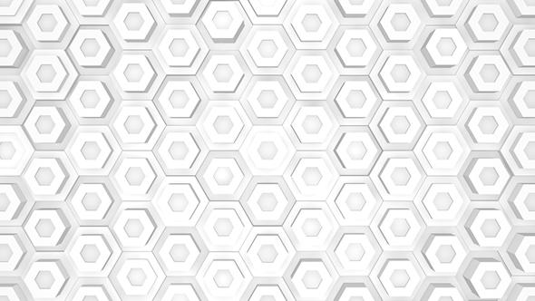 White Polygonal Wall