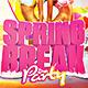 Spring Break 2018 Flyer Template - GraphicRiver Item for Sale