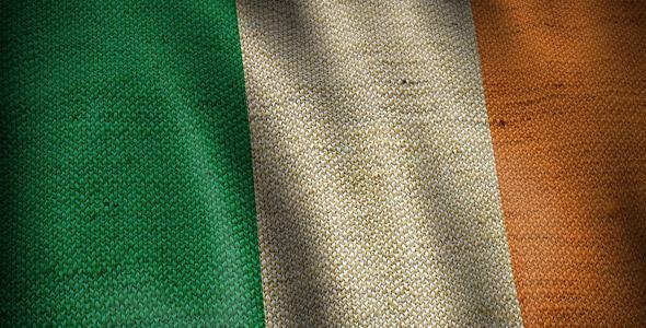 Burlap Flag of Ireland