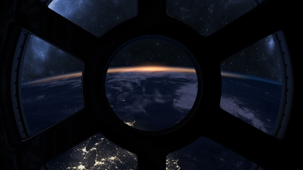 Slow Sunrise Seen From ISS