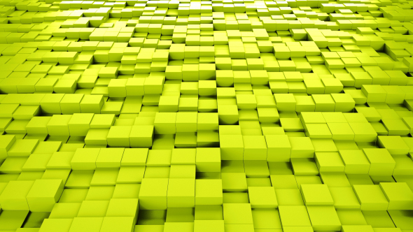 Yellow Cubes Background Loopable