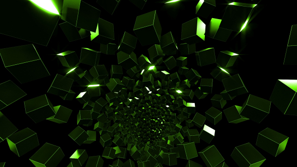 3D Flying Cubes