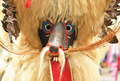 Close-up of traditional carnival mask, called Kurent, Slovenia - PhotoDune Item for Sale
