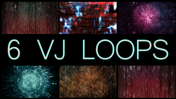Digital Rain VJ Loop Pack