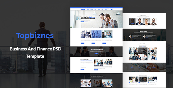Topbiznes – Business & Consulting PSD Template.